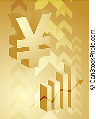 Yen success illustration - Abstract financial success...