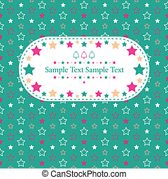 Marry Christmas greeting card - stars and bells sample text...