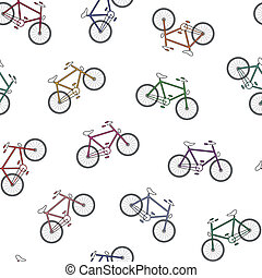 colorful bicycles pattern