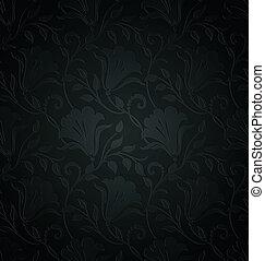 Royal designer floral wallpaper
