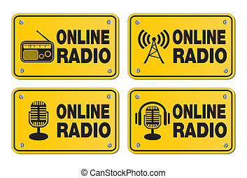 online radio - rectangle yellow sig - suitable for user...