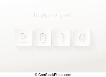 Happy New Year 2014 vector illustration.