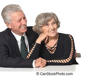 Portrait of an elder couple - Close-up portrait of a glad...