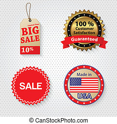 Retail Sale Tag Set - Retail sale tags vector illustration