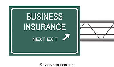 Road sign to business insurance