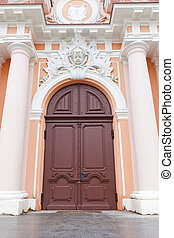 Portal of St Casimir Church circa 1749 Vilnius, Lithuania -...