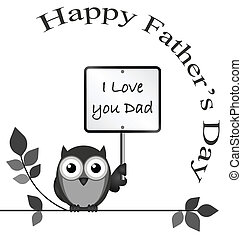 Fathers Day - Monochrome I love dad message isolated on...