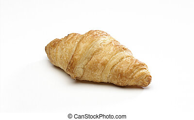 Croissant isolated on a white background