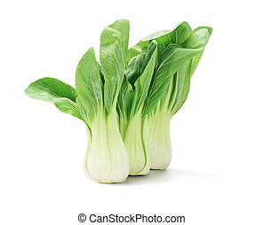 Chinese Cabbage - Green Fresh Chinese Cabbage On White...