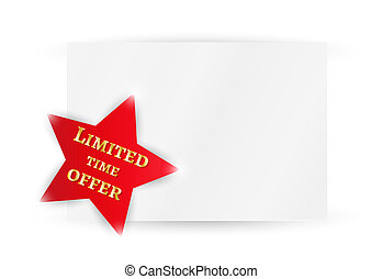 star with time limited offer - red star with time limited...
