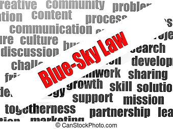Blue-sky Law word cloud