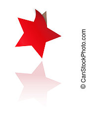 red star with one bent corner