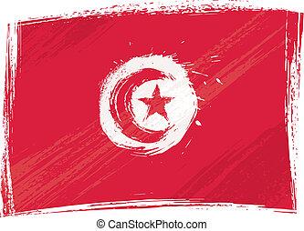 Grunge Tunisia flag - Tunisia national flag created in...