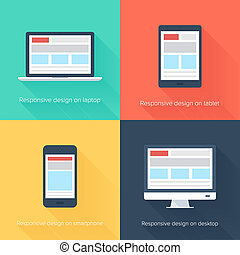 Adaptive web design - Vector illustration of adaptive web...