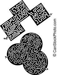 Couple mazes - Creative design of couple mazes