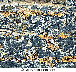 chapped old plaster - background or texture of chapped old...