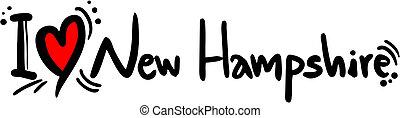 New Hampshire love - Creative design of New Hampshire love