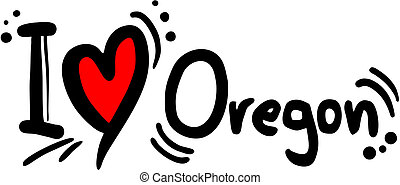 Oregon love - Creative design of oregon love
