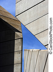 Abstract architectural  construction over sky