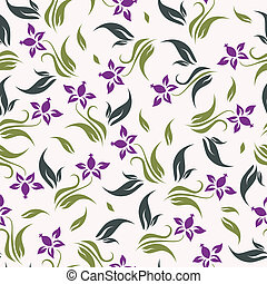 Vector floral background seamless