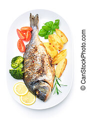 peixe, mar,  bream
