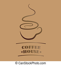 Coffee house - Brochures Coffee house in coffee color and...