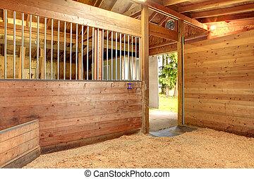 cavalo, estável, celeiro, tenda