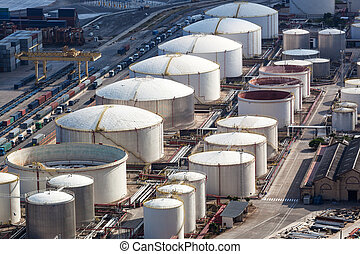 a oil storage - oil storage in the modern port