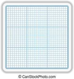 Graph Paper - Graph paper on white background, vector eps10...