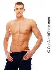 hombre,  Torso, joven,  muscular, guapo