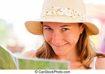 Waggish girl - Portrait of young naughty girl smiling in the...
