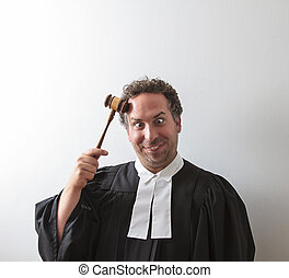 clown laywer - canadian attorney clowning around and banging...