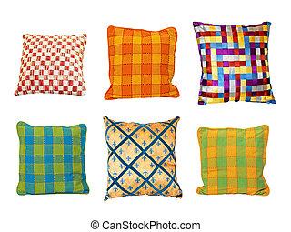 almohadas, cuadrados