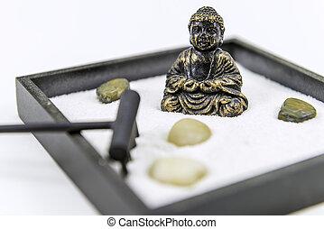 Zen garden with Buddha