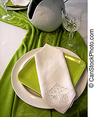 Invite Only - Elegant place setting for dinner guest.
