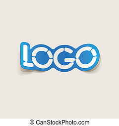 realistic design element: logo