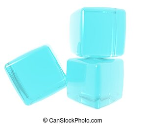 Blue Gel Cubes