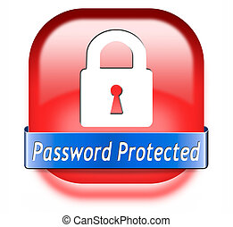 password protected - Password protected data protection by...