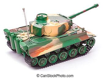 brinquedo, tanque, plástico