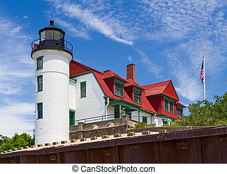 Point Betsie LIght - The Point Betsie Lighthouse, completed...