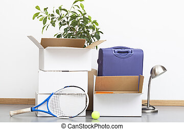 Moving out - Home equipment prepared and being ready to...