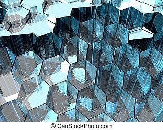 Aqua Hexagons