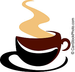 Hot steaming cup of coffee - Hot steaming cup of freshly...