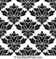 Damask style arabesque pattern - Damask style arabesque...