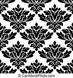 Damask style arabesque pattern - Damask style arabesque...