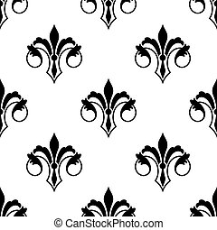 Ornate fluer de lys seamless pattern - Ornate stylized fluer...