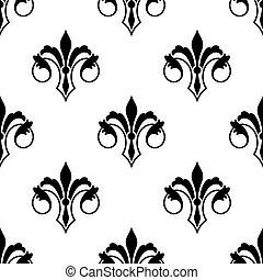 Ornate fluer de lys seamless pattern - Ornate stylized fluer...