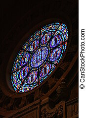 Rose Window - A rose window of a catholic church from the...