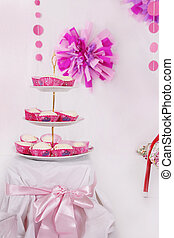 Dessert table with sweets for party