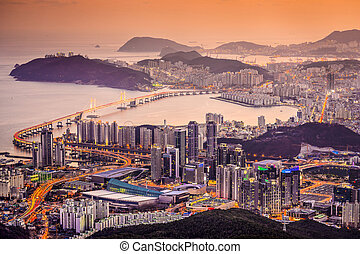 Busan, South Korea - Skyline of Busan, South Korea at...